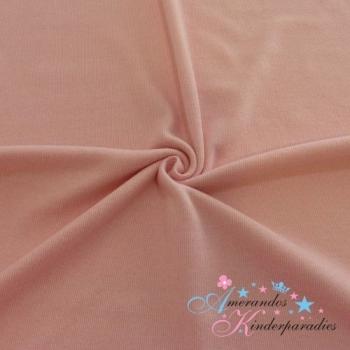 Brushed Interlock ~ Rippenjersey rosa meliert