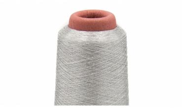 Metallic Overlockgarn silber