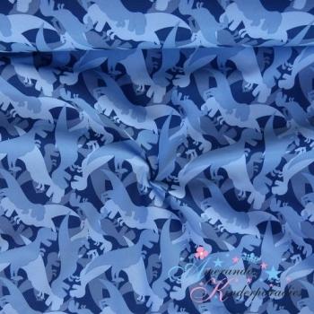 Softshell Dinosaurier blau