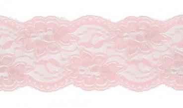 Spitze elastisch rosa 100mm