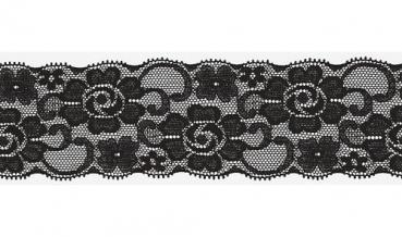 Spitze elastisch schwarz 50mm