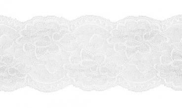 Spitze elastisch weiß 100mm