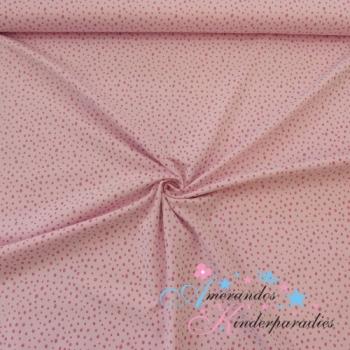 Baumwolljersey Glitzer Pünktchen pink auf rosa