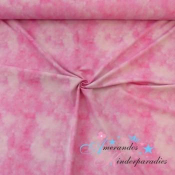 Baumwolljersey Batiklook rosa pink, Kombi zum Kugelfisch