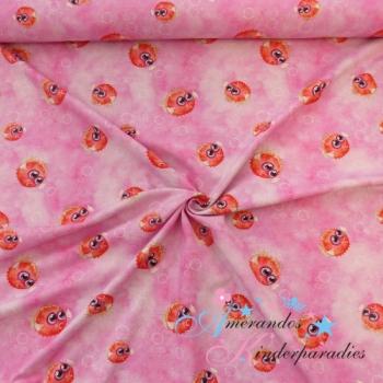 Baumwolljersey Kugelfisch Batiklook rosa pink