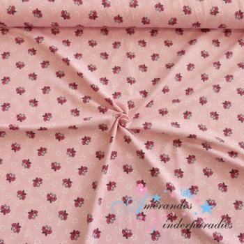 Baumwolljersey Schmetterlinge Tupfen auf rosa