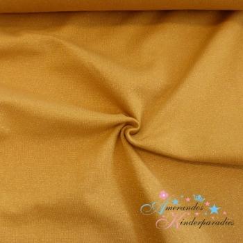 Glitzerbündchen senf gold ca. 34cm breit