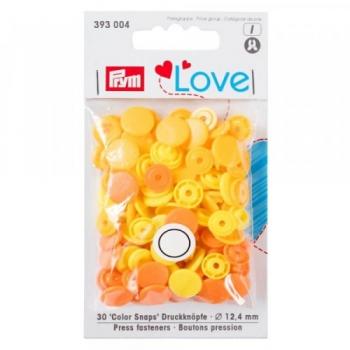 Prym Love Color Snaps RUND gelb orange [393004]