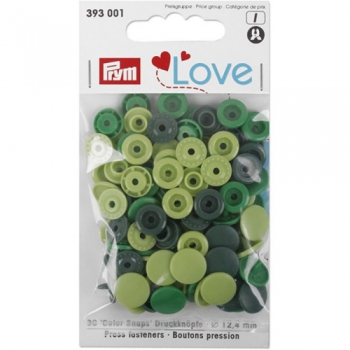 Prym Love Color Snaps RUND kiwi grün dunkelgrün [393001]