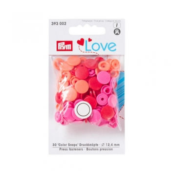 Prym Love Color Snaps RUND apricot pink rot [393002]