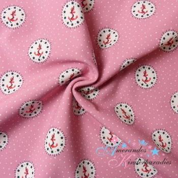 Softshell Anker & Stern im Kreis rosa
