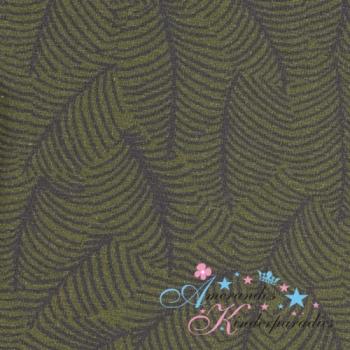 Baumwolljersey Autumn Bunny Blätter khaki von Swafing
