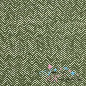 Baumwolljersey Autumn Bunny Chevron khaki von Swafing