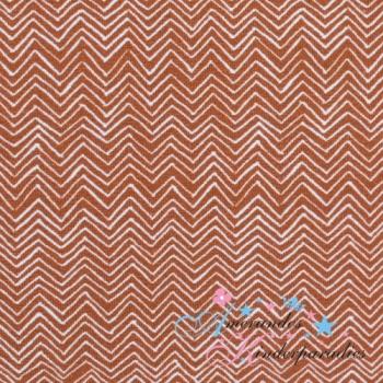 Baumwolljersey Autumn Bunny Chevron terracotta von Swafing