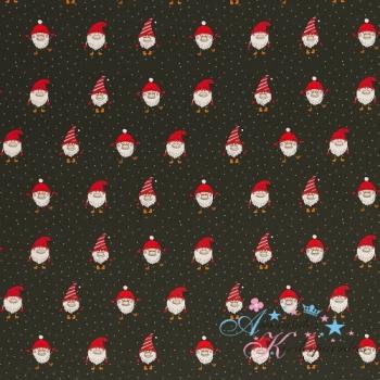 Weihnachtliche Baumwollwebware Joel Wichtel dunkelgrün