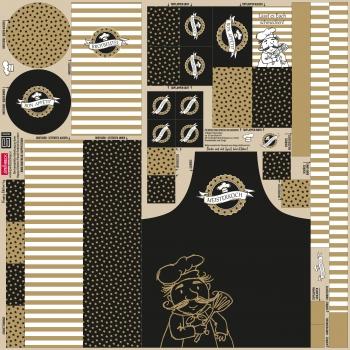 Canvas Happy Kitchen schwarz gold by Steinbeck - Küchen DIY Set