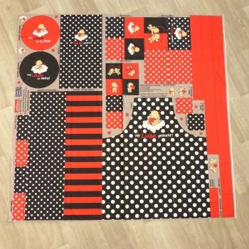 Canvas Happy Kitchen rot schwarz by Steinbeck - Küchen DIY Set