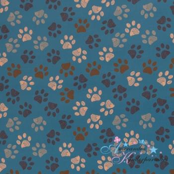 Softshell Fiete Tatzen blau