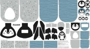 Canvas Tierbeutel Pinguin