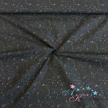 Baumwolle Sternenbild auf schwarz