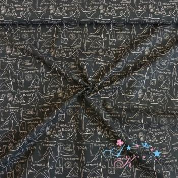Baumwolle Yoga schwarz