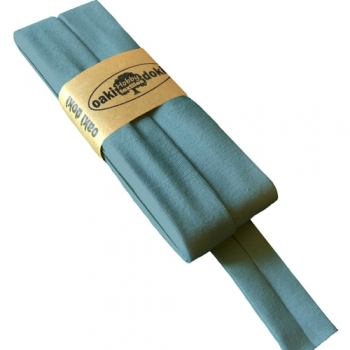 Schrägband Jersey UNI blaugrau [245]