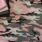 Preview: Baumwolljersey Camouflage grau rosa