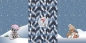 Preview: PANEL French Terry WINTER WONDERLAND Wald blau