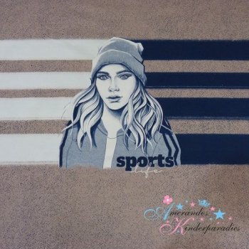 French Terry PANEL Sporty GIRL by Thorsten Berger