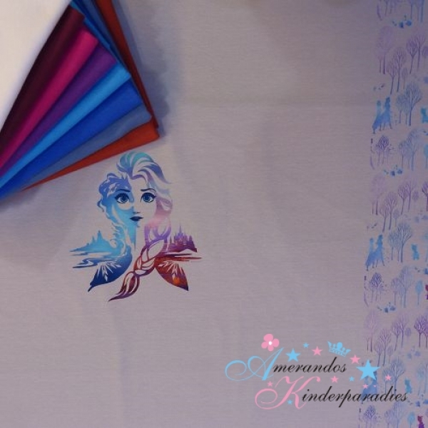 PANEL Disney Jersey Frozen 2 Elsa grau