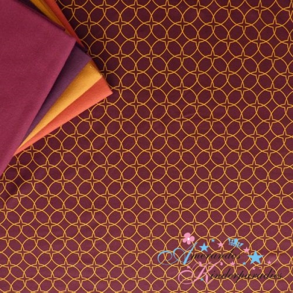 Lycklig Design Taste of Marrakech - Baumwolljersey Oriental Flair bordeaux